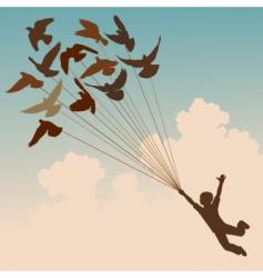 pigeon boy vector image