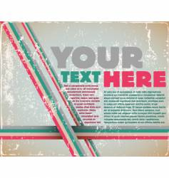 Retro page layout vector