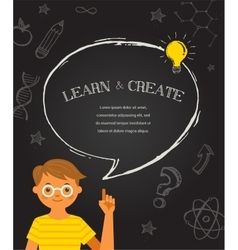 Education background with chalkboard doodles vector image
