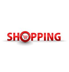 web shopping icon vector image