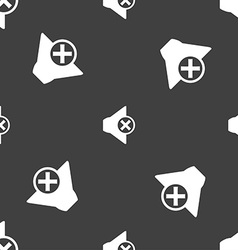 Mute speaker sign icon sound symbol seamless vector