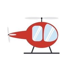 Transportation design helicopter icon flat and vector