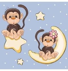 Lovers monkeys vector