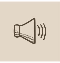 Speaker volume sketch icon vector