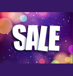 abstract sale banner purple background with light vector image vector image