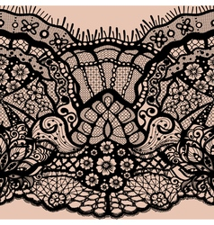 Abstract seamless pattern with lace leaves and vector
