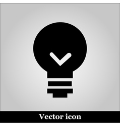 Bulb icon on grey background vector image vector image