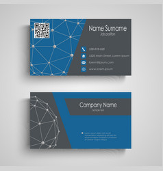 Business card with abstract connection pattern vector