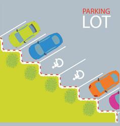 car park parking lot vector image