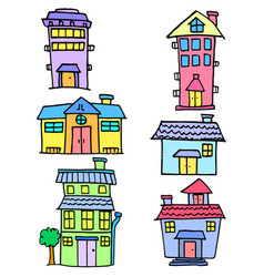 collection stock of house colorful set vector image vector image