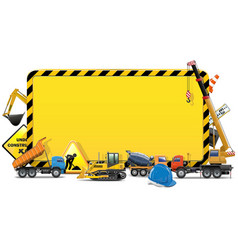 Construction Board vector image vector image