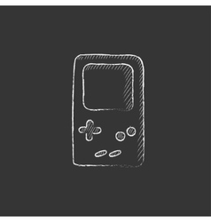 Electronic game drawn in chalk icon vector