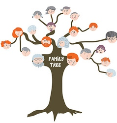 Family tree - funny cartoon vector image