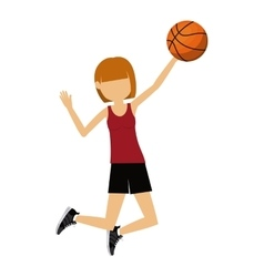 female athlete practicing isolated icon design vector image