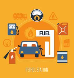 fuel pump composition vector image