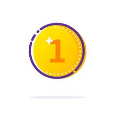 Gold coin icon vector