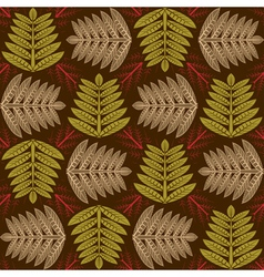 herbal pattern vector image vector image
