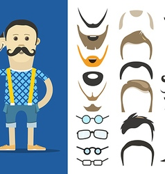 Hipster accessories clip-art vector