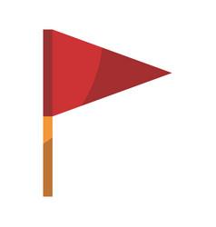 isolated beach flag vector image