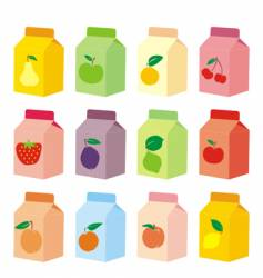 juice carton vector image