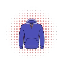 Men hoodies icon comics style vector