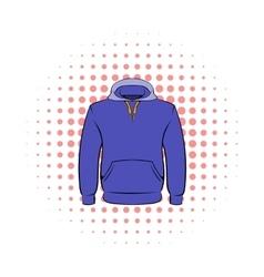 Men hoodies icon comics style vector image