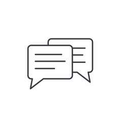 message chat speech bubble talk dialog thin vector image