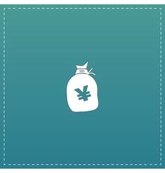 Money bag icon yen jpy vector