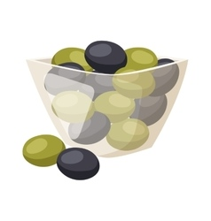 Olive in plate vector image