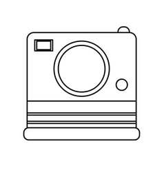 photographic instant camera icon image vector image