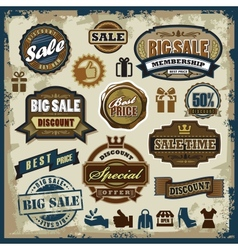 Sale labels set vector