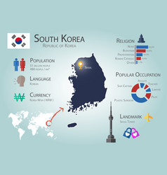 South korea infographics vector