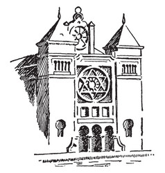 Synagogue vintage vector