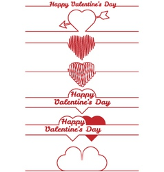 Valentines day design elements - dividers vector