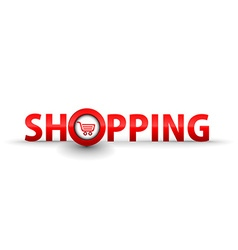 web shopping icon vector image vector image