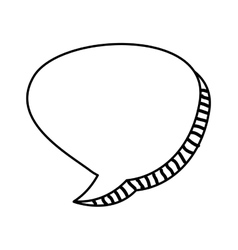 Speech bubble monochrome message icon vector
