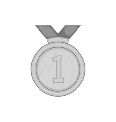 First place medal icon black monochrome style vector