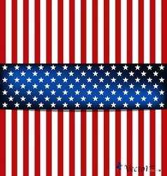 American Flag card vector image
