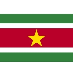 Flag of suriname in correct proportions and colors vector