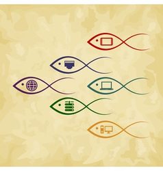 Fish the computer vector image