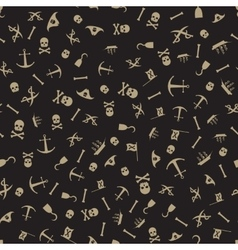 Pirate seamless pattern background vector