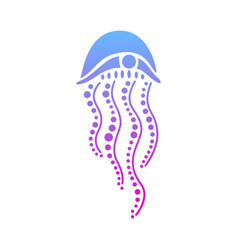 Jellyfish abstract on white vector