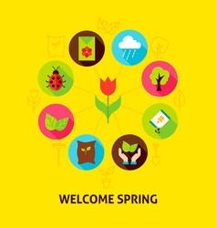 Welcome spring concept vector