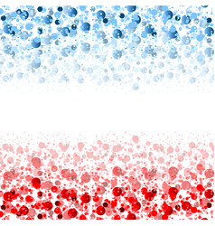 Usa flag colors shiny abstract particles vector