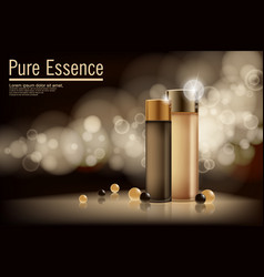 Essence contained ads gold and bronze vector