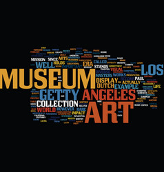 Los angeles art museum text background word cloud vector