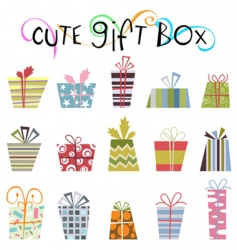 cute gift boxes vector image
