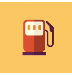 Fuel transportation flat icon vector