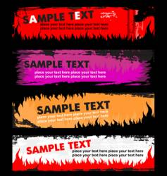 flame grunge banners vector image