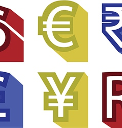 Currency no background vector
